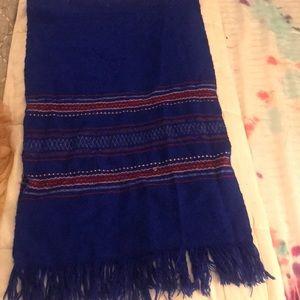 Handmade woven Aztec scarf